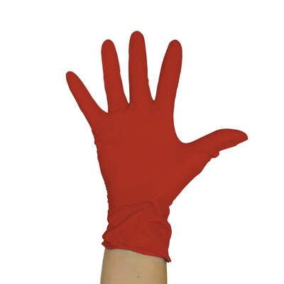 Proform Powder-Free Vinyl Gloves Red 100 Pack
