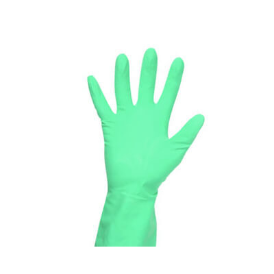 Green Household Rubber Gloves 12 Pack
