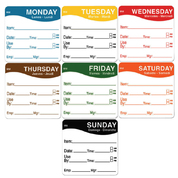 Removable Day of The Week Label 51x51mm 500