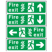 Fire Exit Sign 150mm x 450mm
