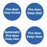 Fire Door Non Marking Adhesive Sign x 3