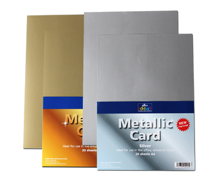 A4 Metallic Card 20 Sheets