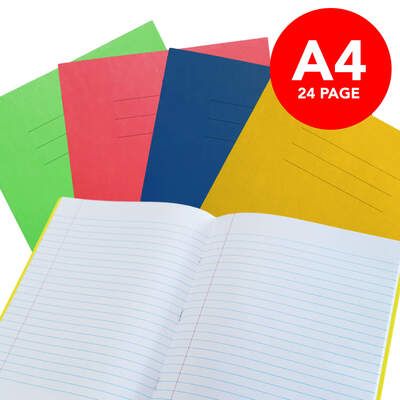 Exercise Book A4 Lined 24 Page Box 50