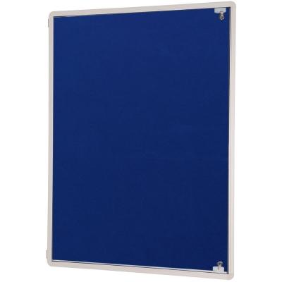 Tamperproof Side Hinged Noticeboard Blue
