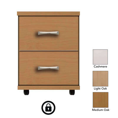 Somerset 2 Drawer Bedside Table With Lock