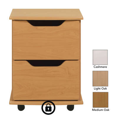 Wiltshire 2 Drawer Bedside Table With Lock