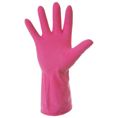 Household Rubber Gloves Pink 10 Pack