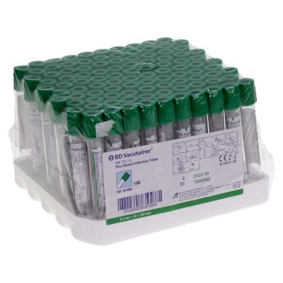 BD Vacutainer Tube Lithium Heparin 100 Pack