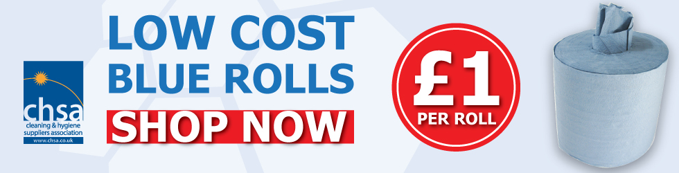 Low Cost Blue Rolls - only £1 per roll