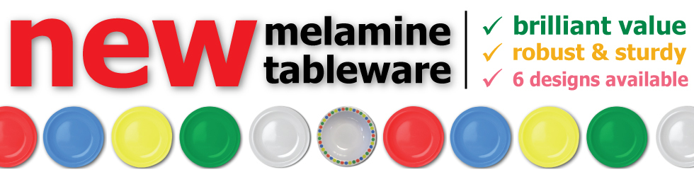 New melamine tableware - OUT NOW!