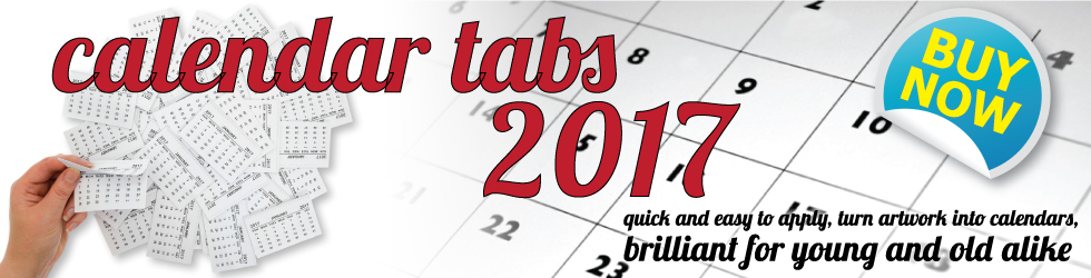 Calendar Tabs for 2017 - OUT NOW!