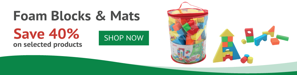 SAVE UP TO 40% ON FOAM TOYS
