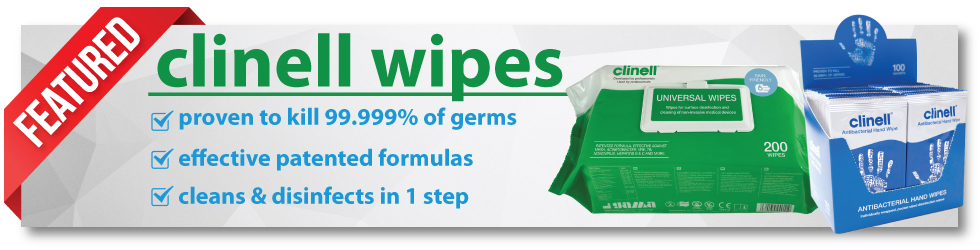 NEW - Clinell wipes range, click to view!