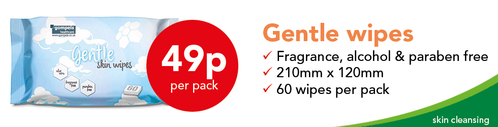GENTLE WIPES ONLY 49P EACH