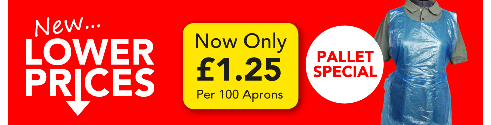 APRONS NOW ONLY 1.25 PER PACK