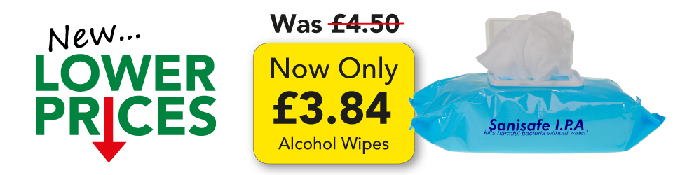 ALCOHOL WIPES NOW ONLY 3.84