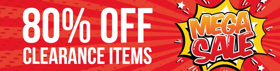 80% OFF CLEARANCE ITEMS!