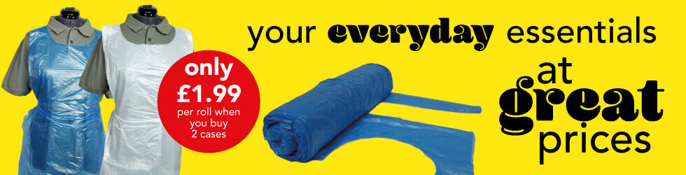 aprons only £1.99 per roll