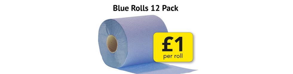 BLUE ROLLS ONLY £1 PER ROLL