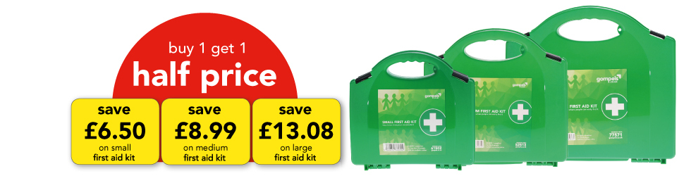 BUY 1 GET 1 HALF PRICE FIRST AID KITS