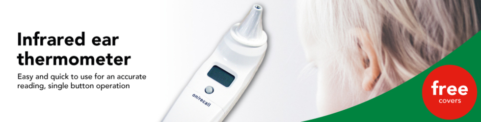 Free covers when you buy Infrared ear thermometer, save £2