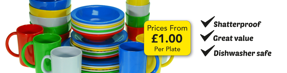 GREAT VALUE MELAMINE TABLEWARE