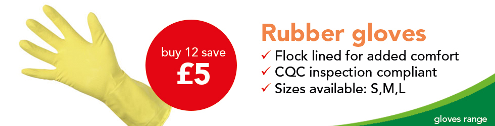 RUBBER GLOVES SAVE £5